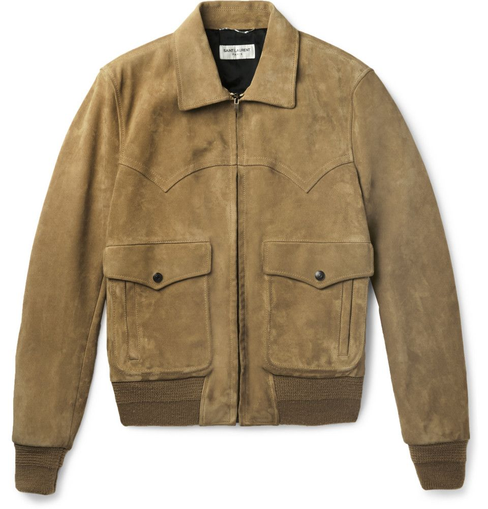 bbe3e1284 Saint Laurent - Western Suede Flight Jacket | MR PORTER ...