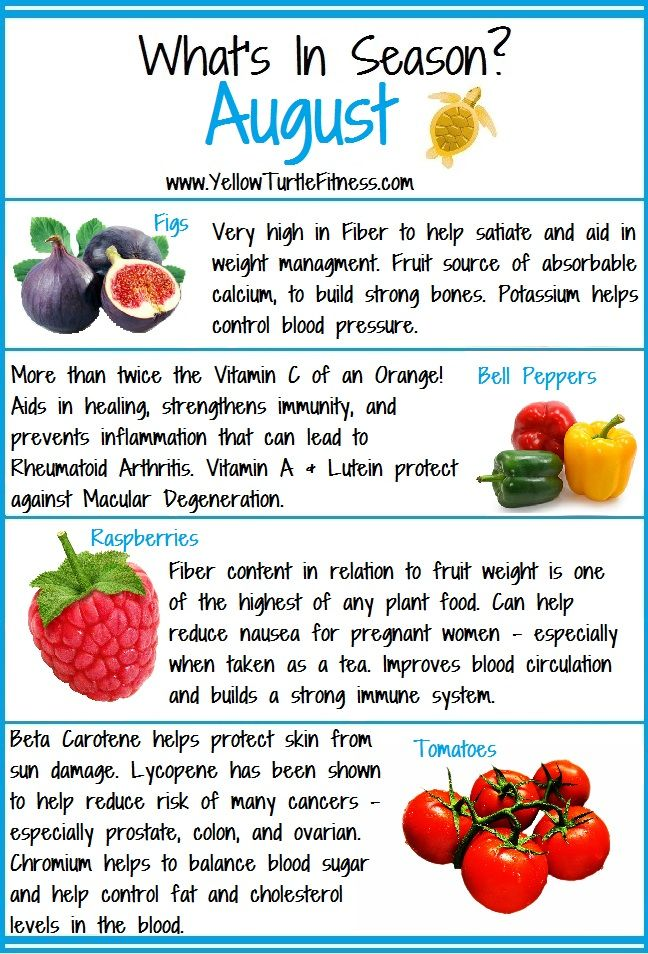 WhatS In Season For The Month Of August  Healthy Living