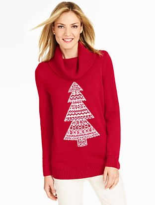 Talbots - Holiday Evergreen Cowlneck Sweater     Petites Discover ...