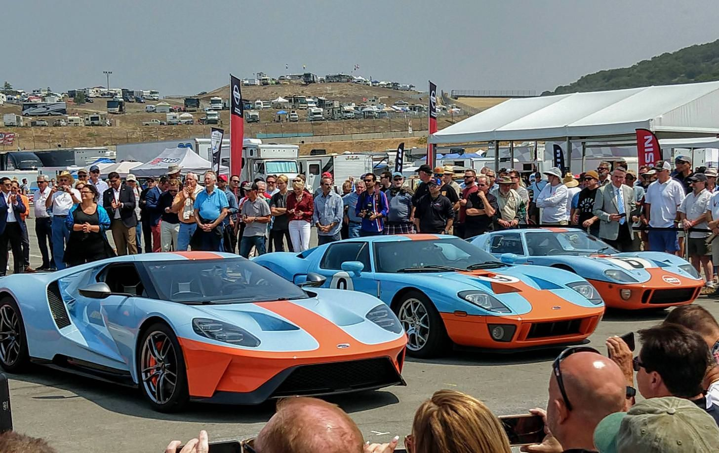 Car Three Generations Of Ford Gt In Gulf Livery Ford Gt Ford