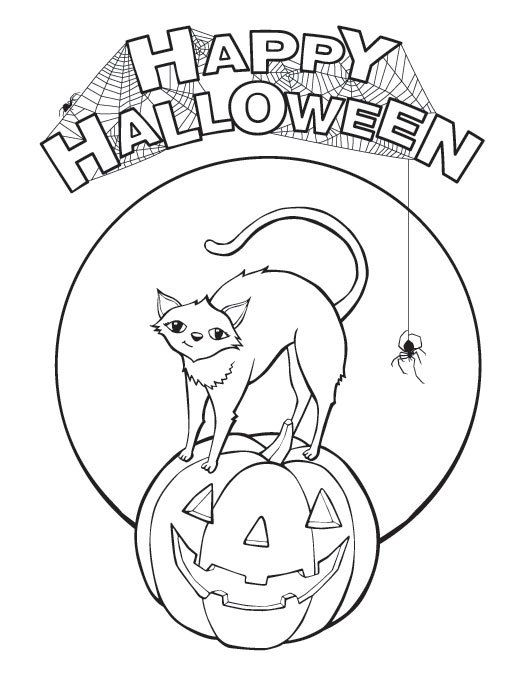 200+ Free Halloween Coloring Pages For Kids - The Suburban Mom - free halloween decorations printable
