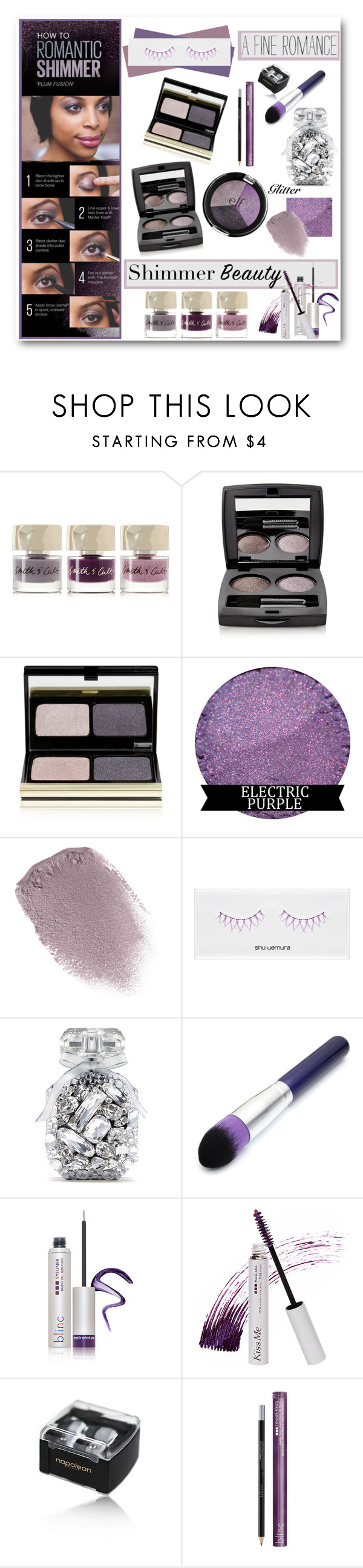 """""""Romantic Shimmer"""" by brendariley-1 ❤ liked on Polyvore featuring beauty, Smith & Cult, Chantecaille, Kevyn Aucoin, Obsessive Compulsive Cosmetics, shu uemura, Victoria's Secret, Blinc, Napoleon Perdis and shimmerbeauty"""