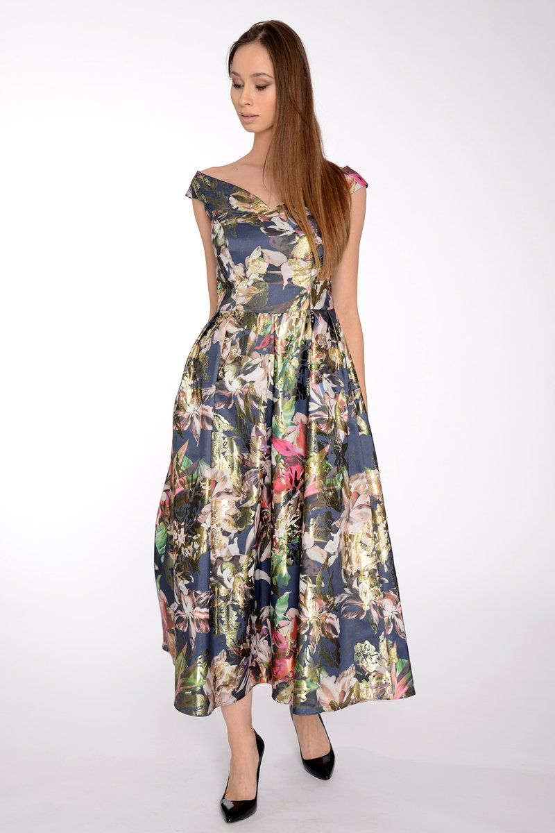 Zakardowa Suknia Wieczorowa W Kwiaty Studio Mody Francoise Dresses Fashion Summer Dresses