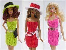 Photo of 3 Häkelanleitungen für Puppenmode: Kleid, Hut, Clutch
