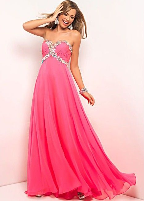 Beautiful Strapless Pink Dress - Prom Dresses - Blush Prom 9516- RissyRoos.com