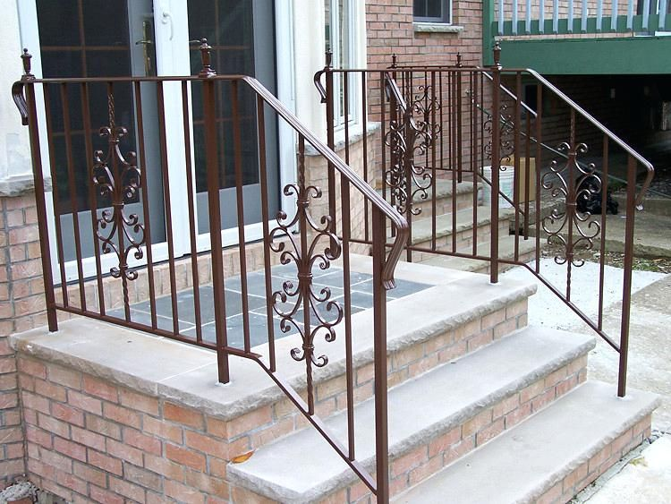 Home Depot Metal Railings For Stairs Inspiring Exterior Wrought | Metal Handrail Home Depot | Deck Stairs | Outdoor Handrails | Balusters | Porch Railings | Aluminum Railing