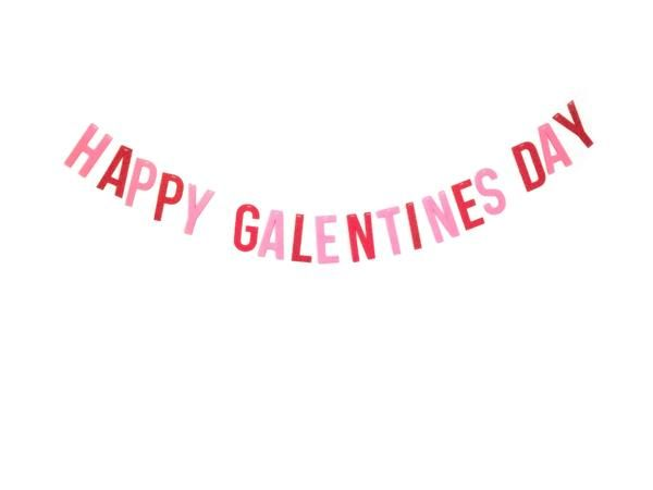 Happy Galentine S Day Banner Happy Galentines Day Red