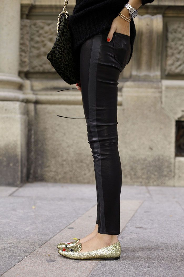 J BRAND Irina Leather Pant. #LittleBlackJean