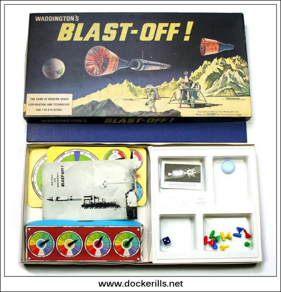 Blast Off, Waddington's. Vintage Game From 1969 Vintage