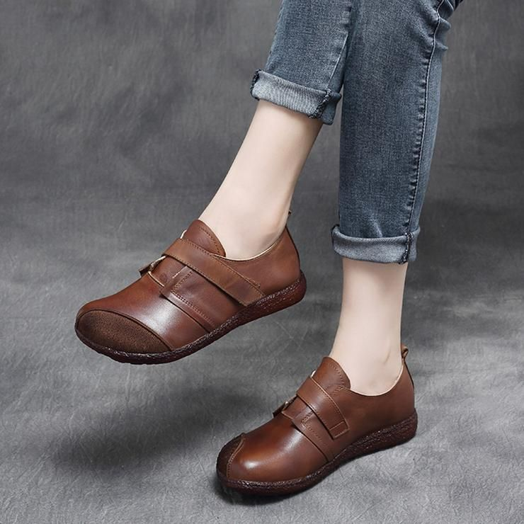 Flat shoes women, Leather shoes