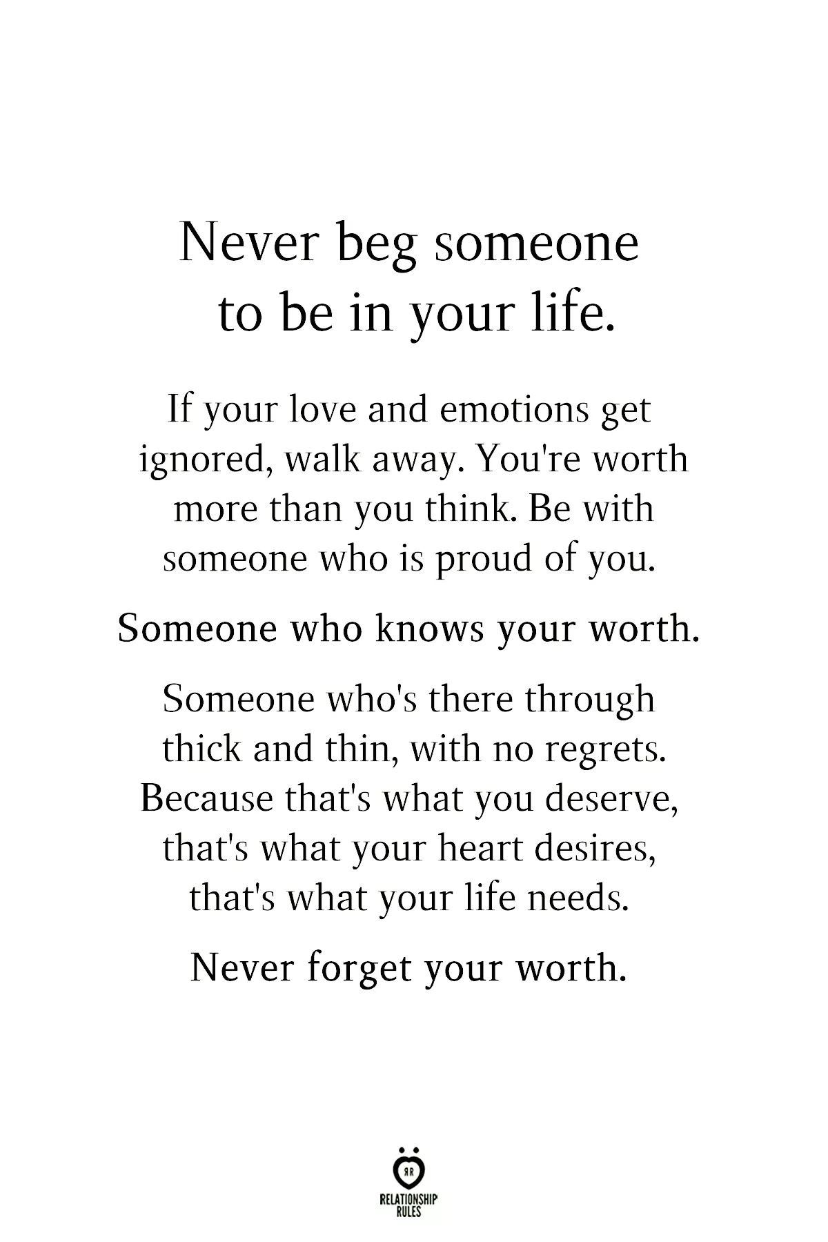 Never Forget Your Worth. | Self Worth Quotes Relationships
