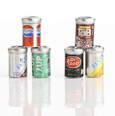 Dollhouse Miniatures Dr.Pepper Soda Can Drinks Beverages Supply