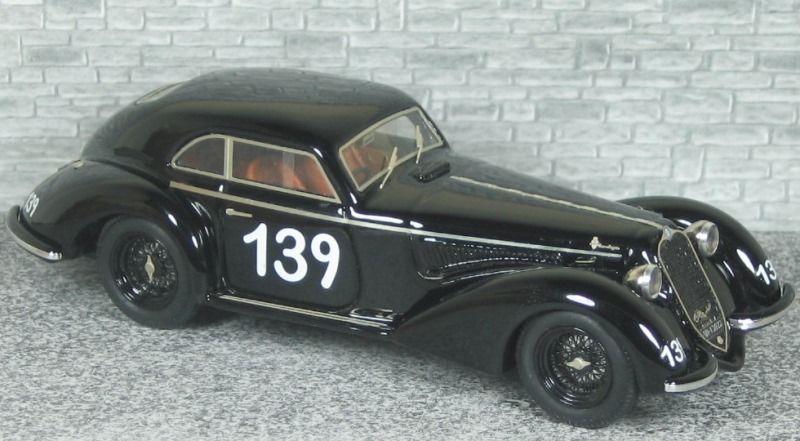 Alfa Romeo 6c 2300 B Berlinetta Touring - Mille Miglia 1938 #139 - Alfa Model 43