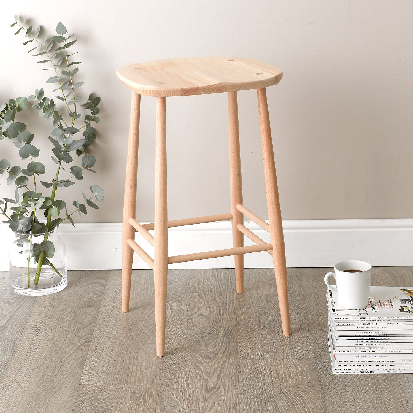 Ercol Bar Stool - Natural | The White Company | Ercol furniture ...