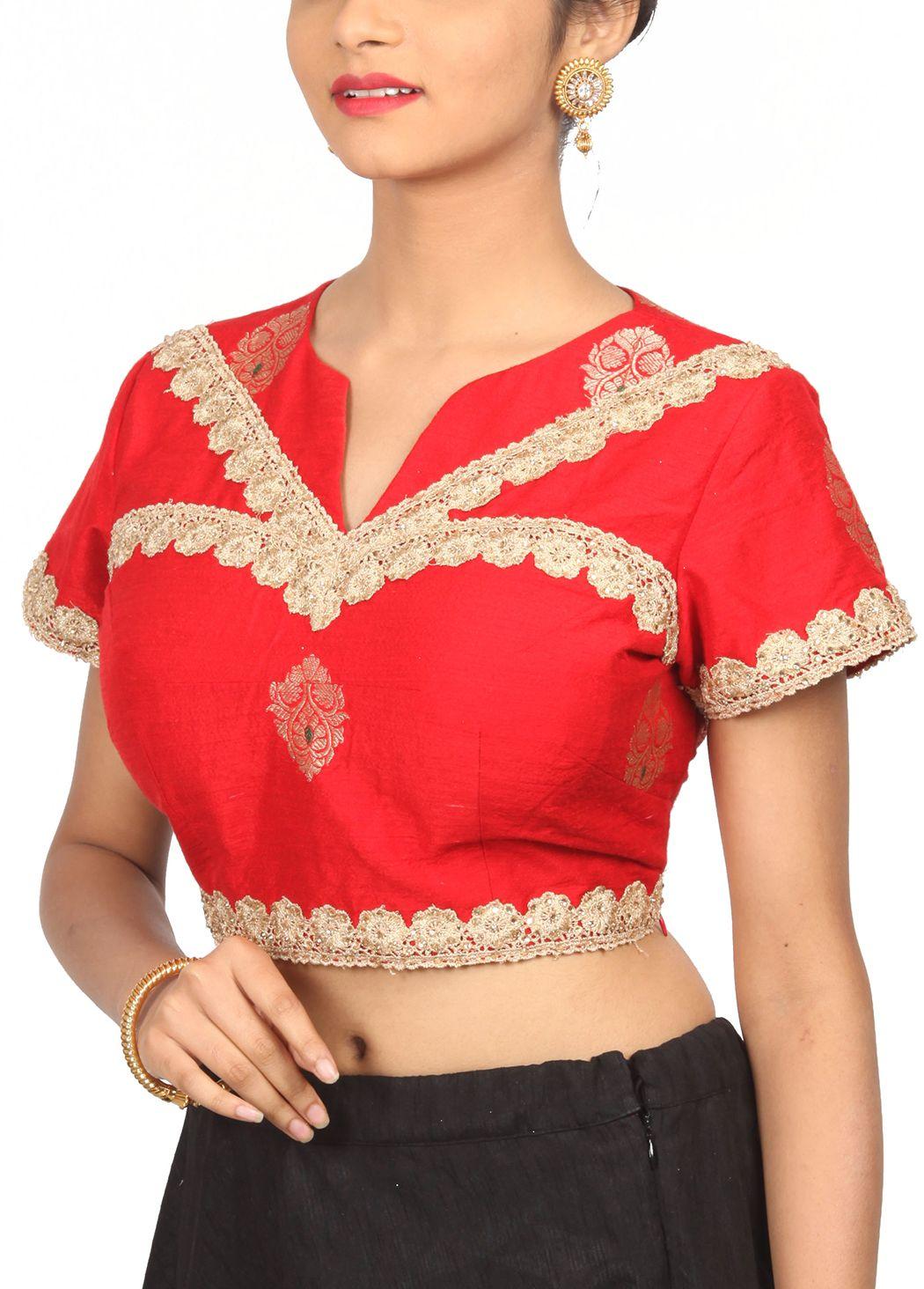 Red brocade designer blouse bl indian silk house agencies also rh pinterest