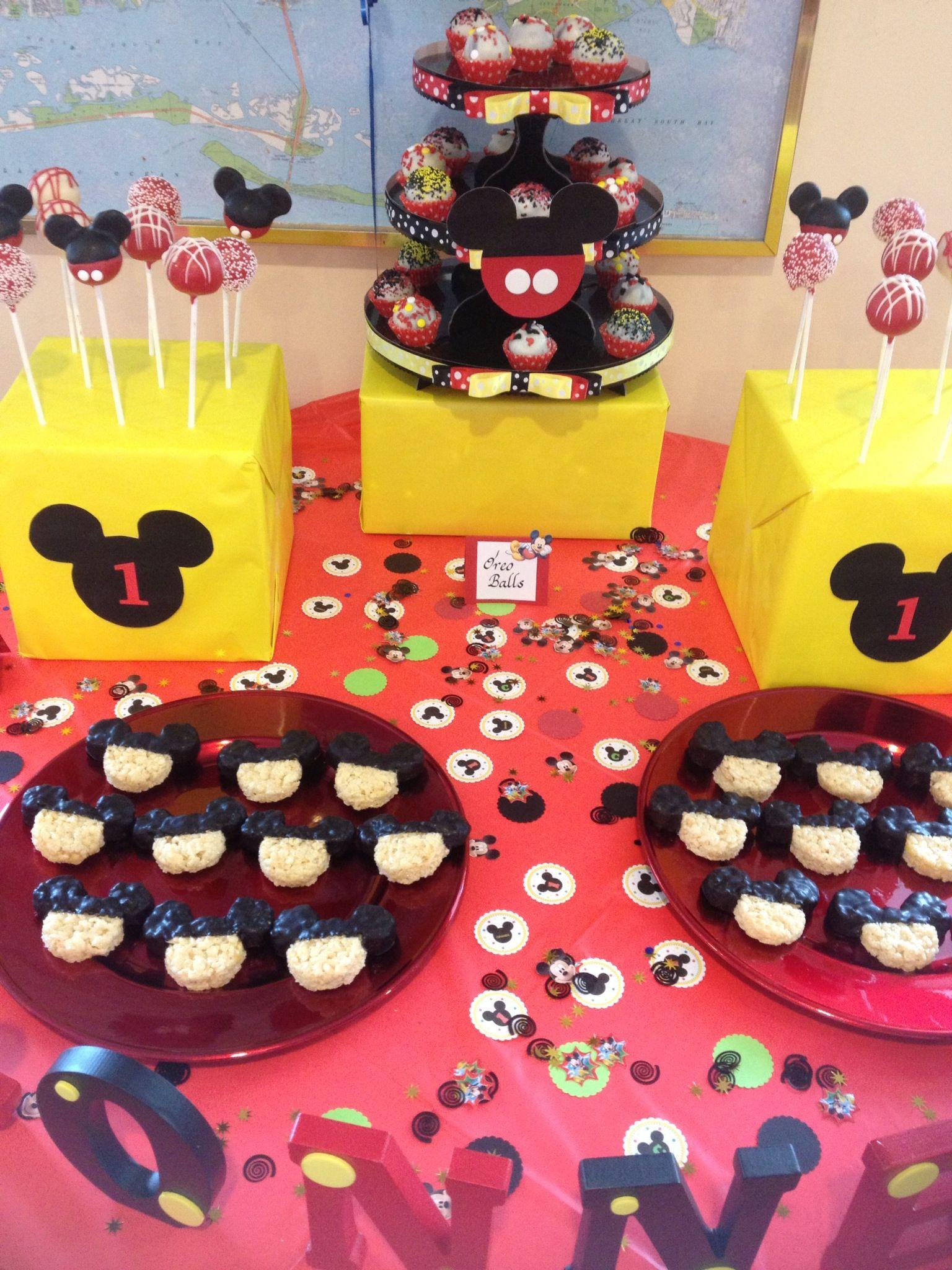 Mickey Mouse 1st Birthday Dessert Table Thelastbiteny Dessert Table Birthday Mickey Mouse 1st Birthday Dessert Table