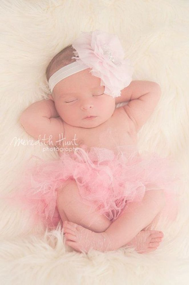 Rylee Baby Girl Tutu Dress Newborn Photography Props Outfit with FREE Headband