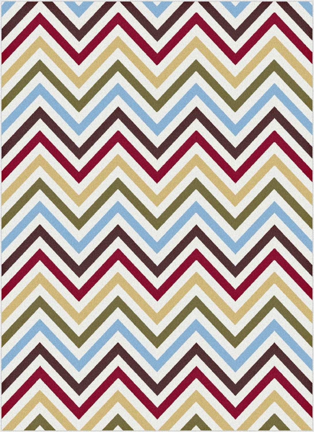 Tayse Rugs Metro Collection 1015 Multi Red Chevron Rug Superarearugs Modern Zigzag Trendy Pinterest