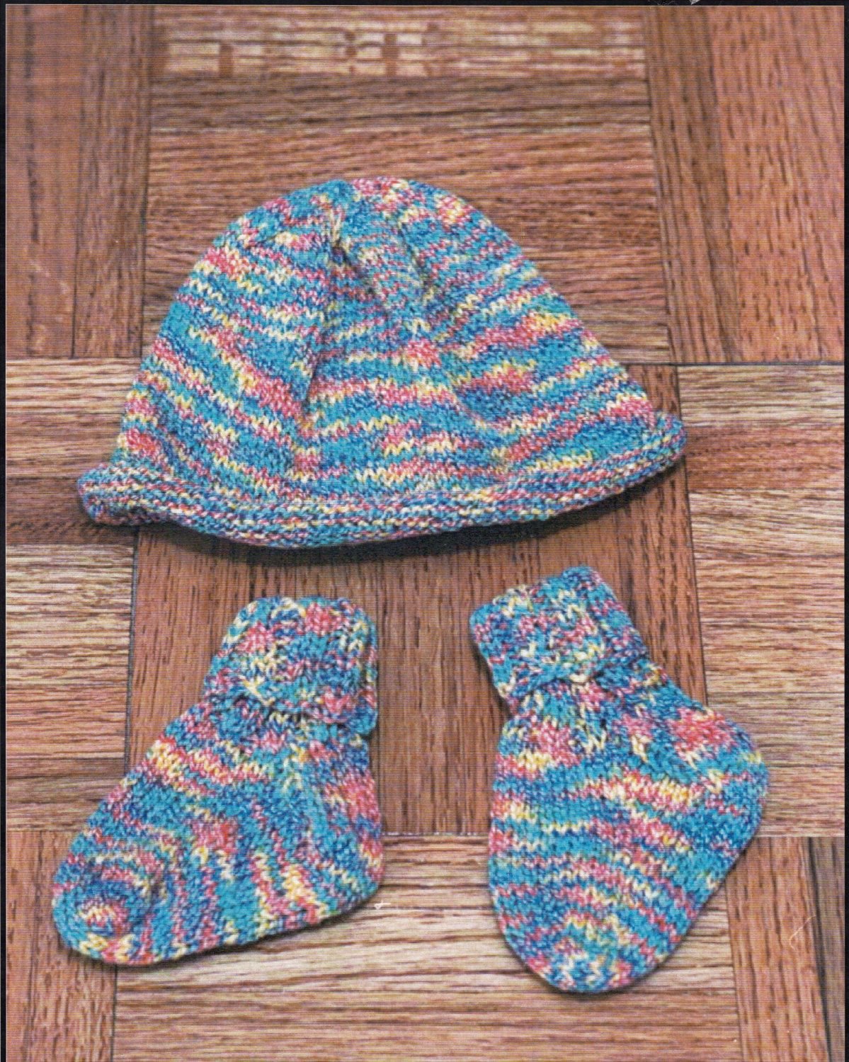 Knitted Baby Socks & Hat Knitting Pattern - Sockotta by Plymouth ...