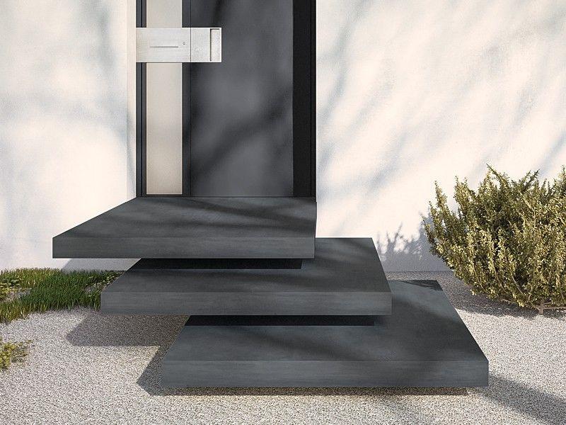 betonpodest aulicio ein eleganter empfang mit optisch schwebenden stufen macht jeden. Black Bedroom Furniture Sets. Home Design Ideas