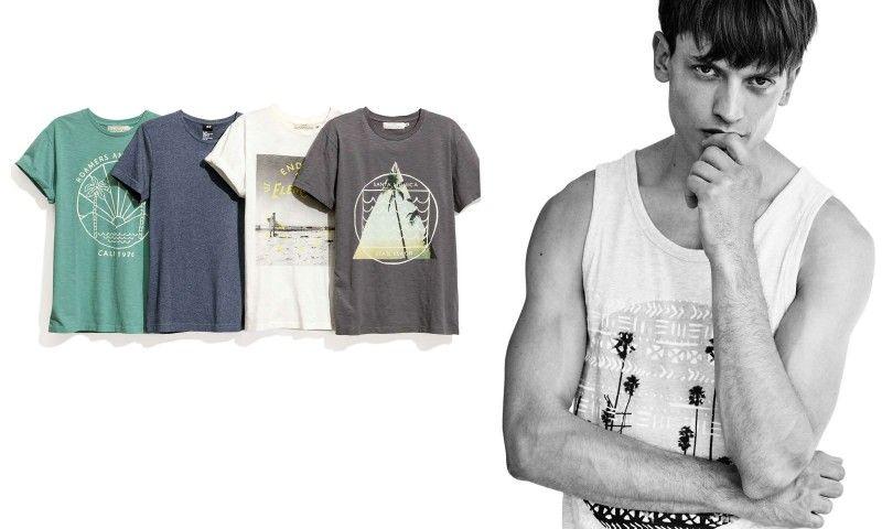 Eddie Klint Rocks Casual Destination Style Tees + Tanks for H&M