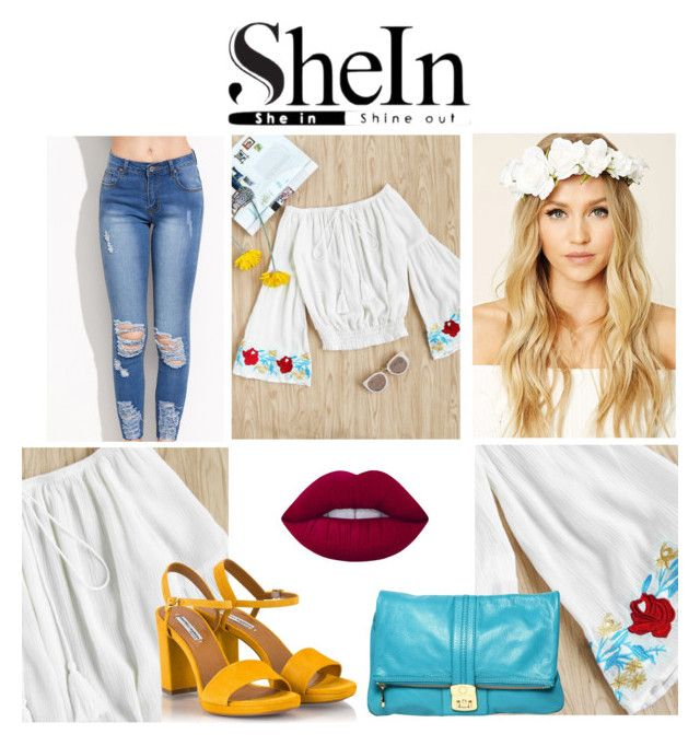 """""""SheIn Peasant Blouse Outfit"""" by ashleyleeannclark ❤ liked on Polyvore featuring Forever 21, Lime Crime, Fratelli Karida and Marc by Marc Jacobs"""
