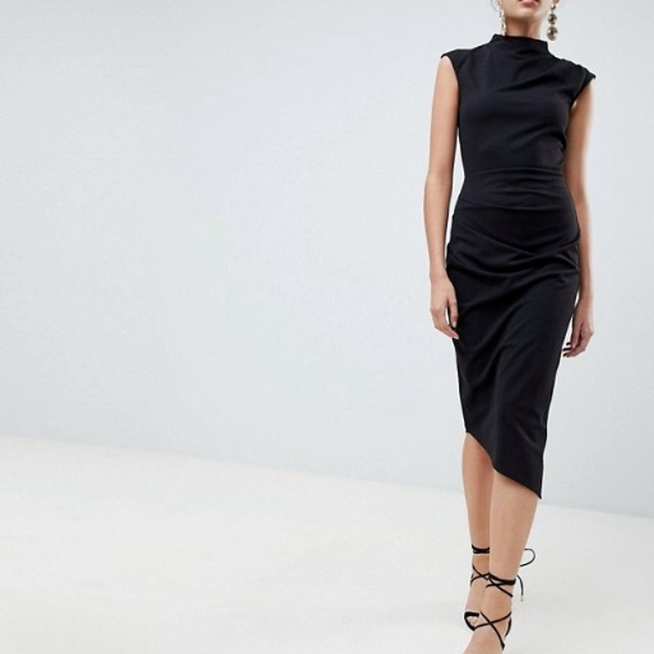 Worn Once Asos Black Midi Bodycon Dress Size 12 Message Depop Black Midi Dress Bodycon Midi Dress Bodycon Bodycon Dress [ 1280 x 1280 Pixel ]