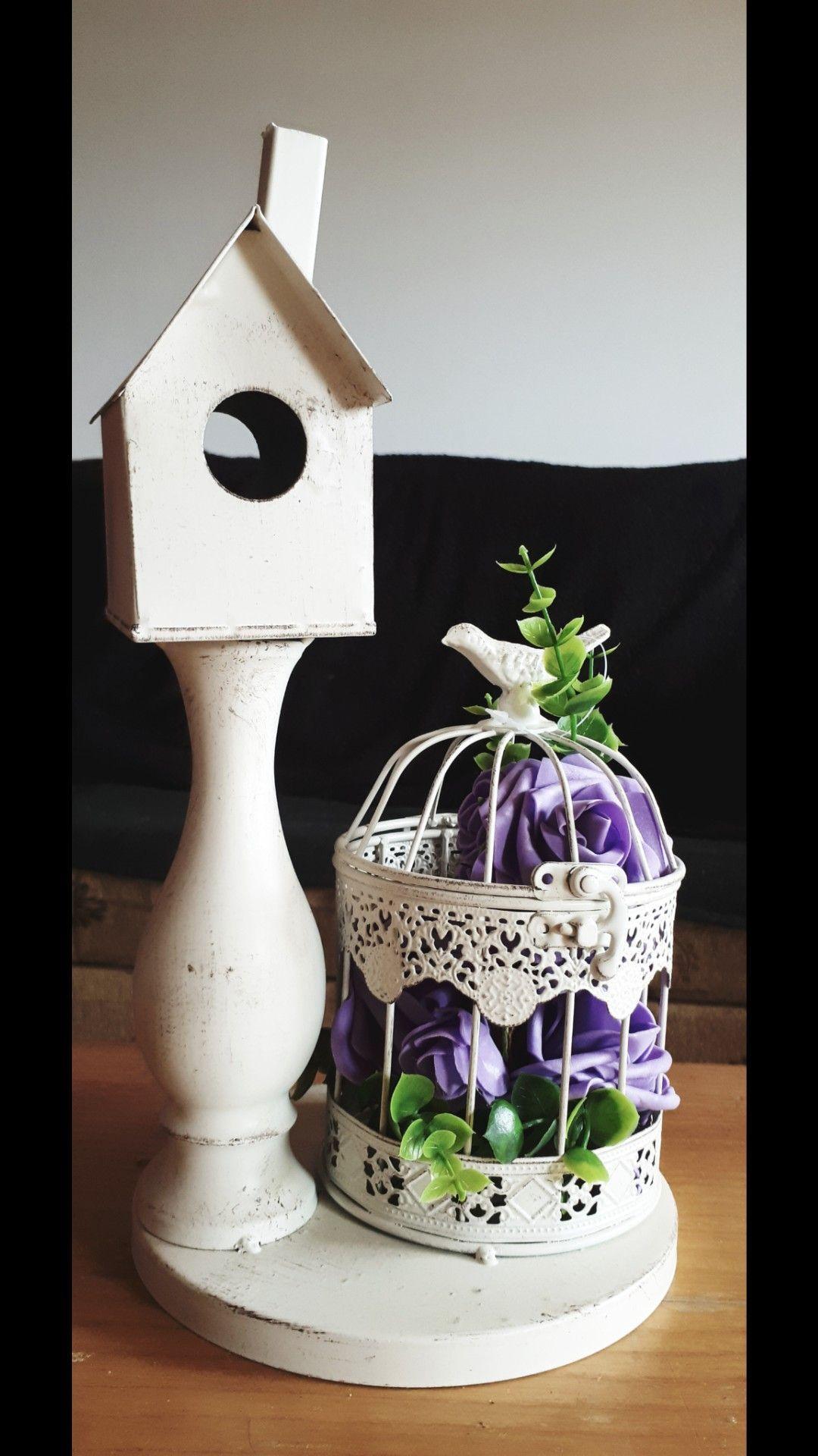 Birdhouse Artificial Flowers Artificial Greenery Birdcage Light Decoration Simple Weding