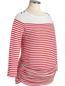 6615693b5286 Old navy has adorable maternity clothes!  3 Maternity Striped Boat ...