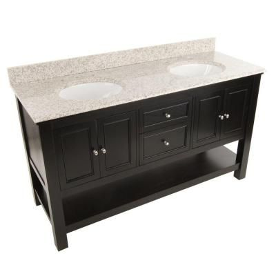 Foremost Gazette 61 in W x 22 in D Double Bath Vanity in Espresso