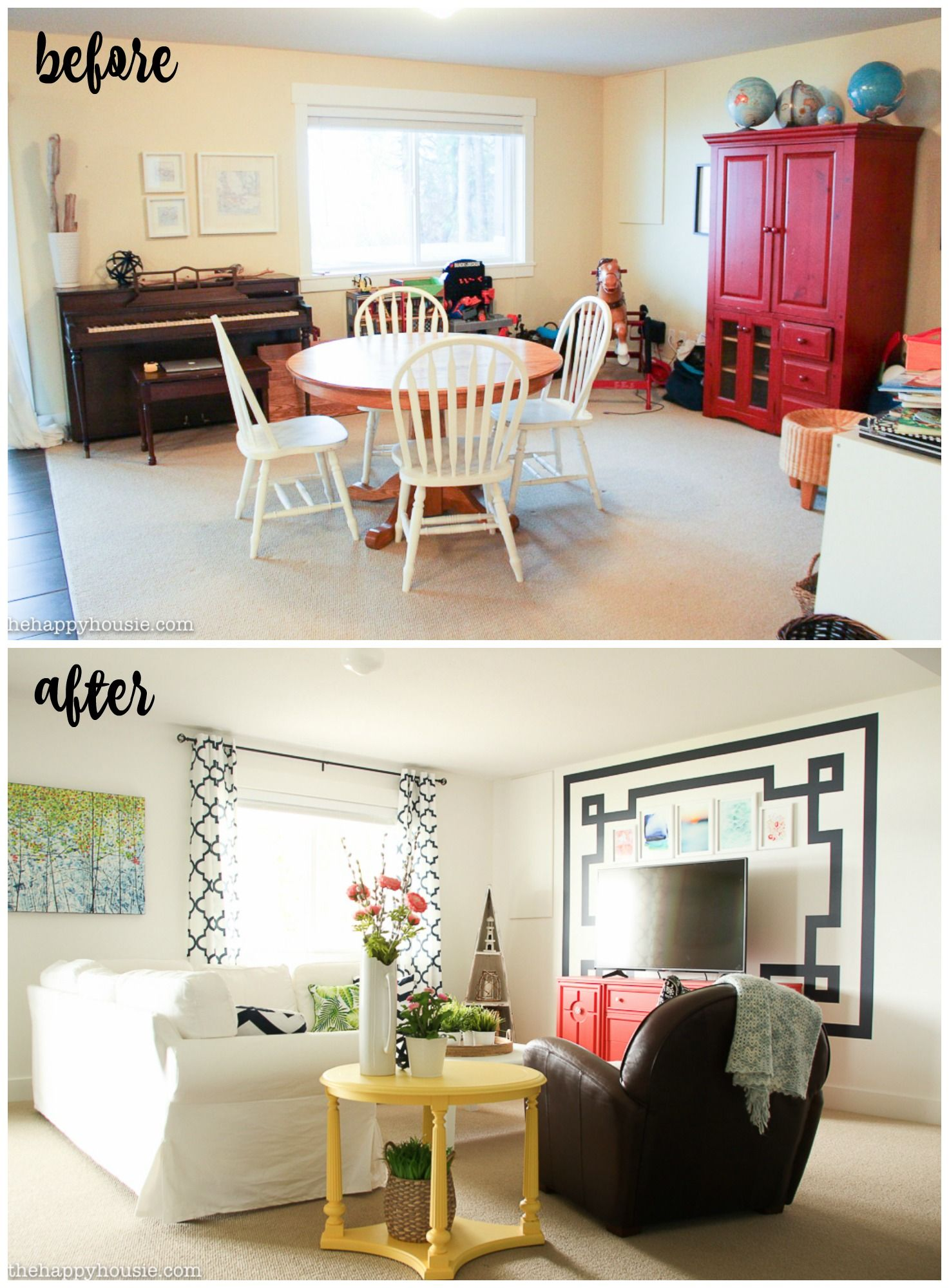 Fresh Fab Family Room Makeover Reveal Frogtape Paintover