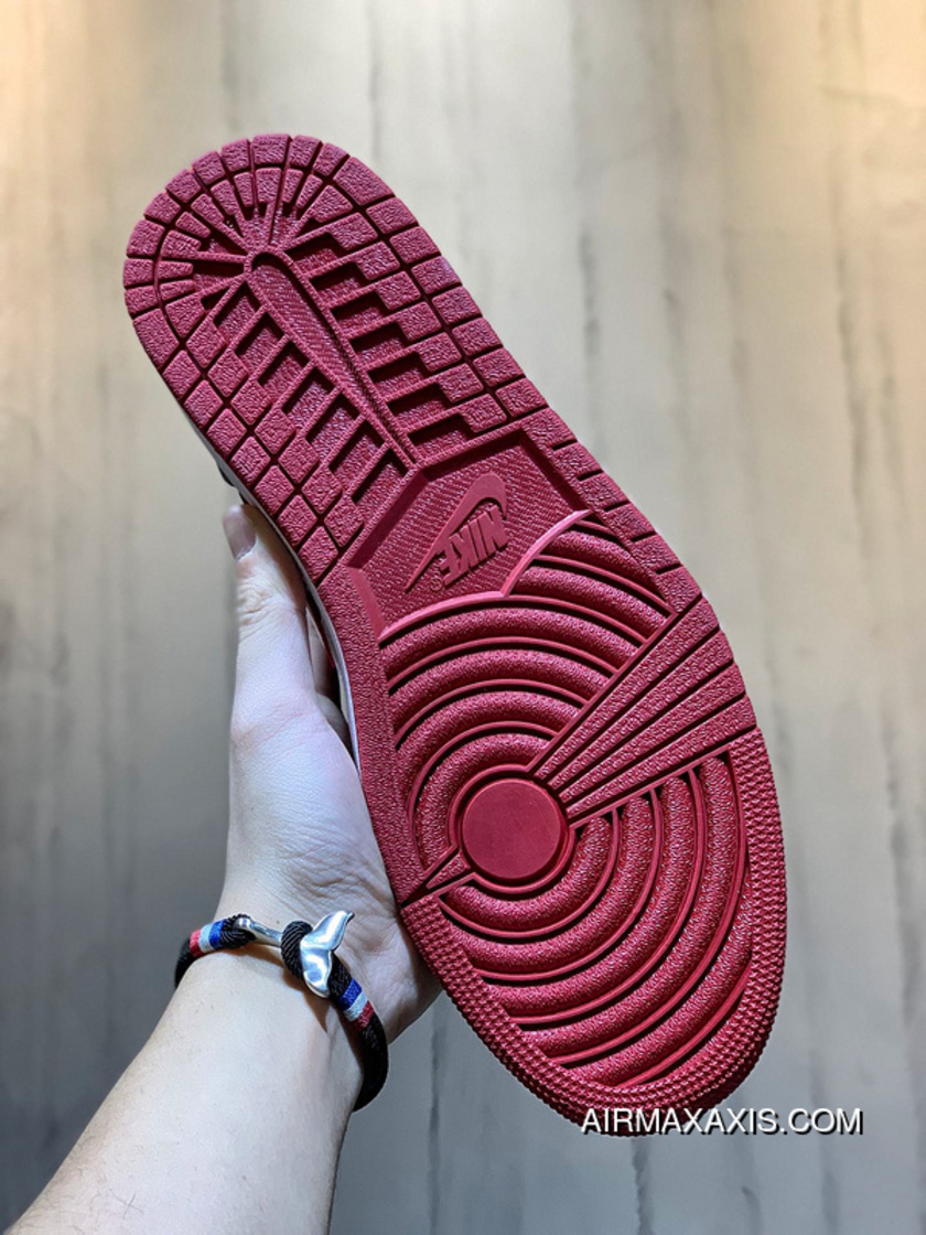 Nike Air Jordan 1 Mid Rlx Aj1 Small Black Red Panda Foot