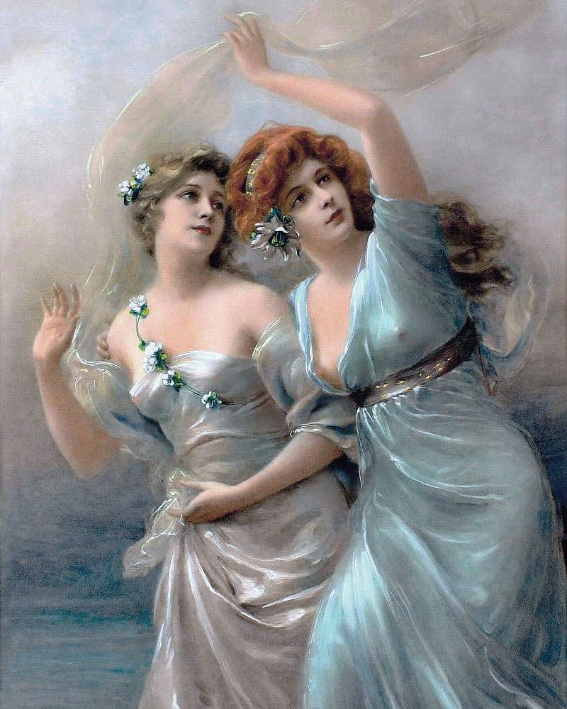 Love/'s Messengers by Edouard Bisson Art Print of Vintage Art