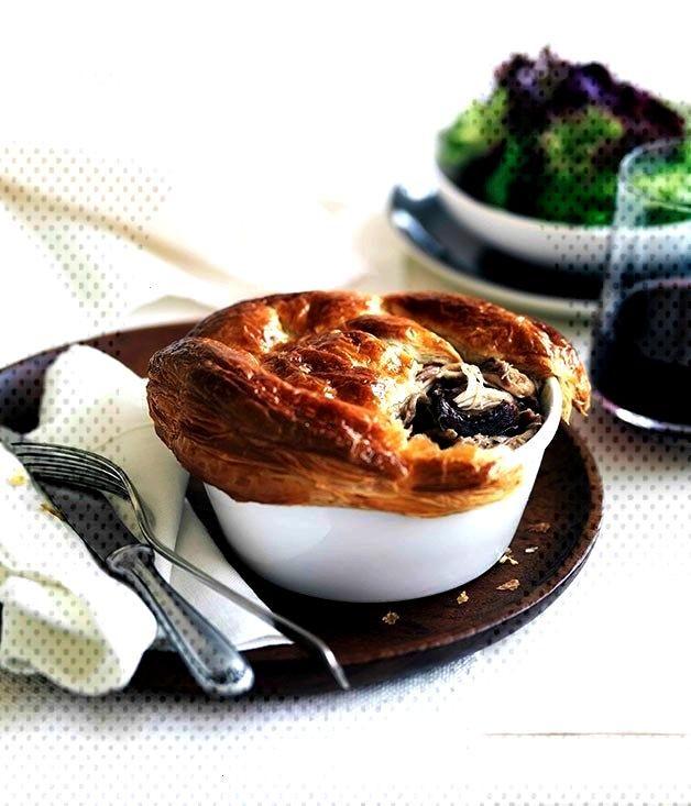Rabbit and wild mushroom pies - rabbit and wild mushroom pies -