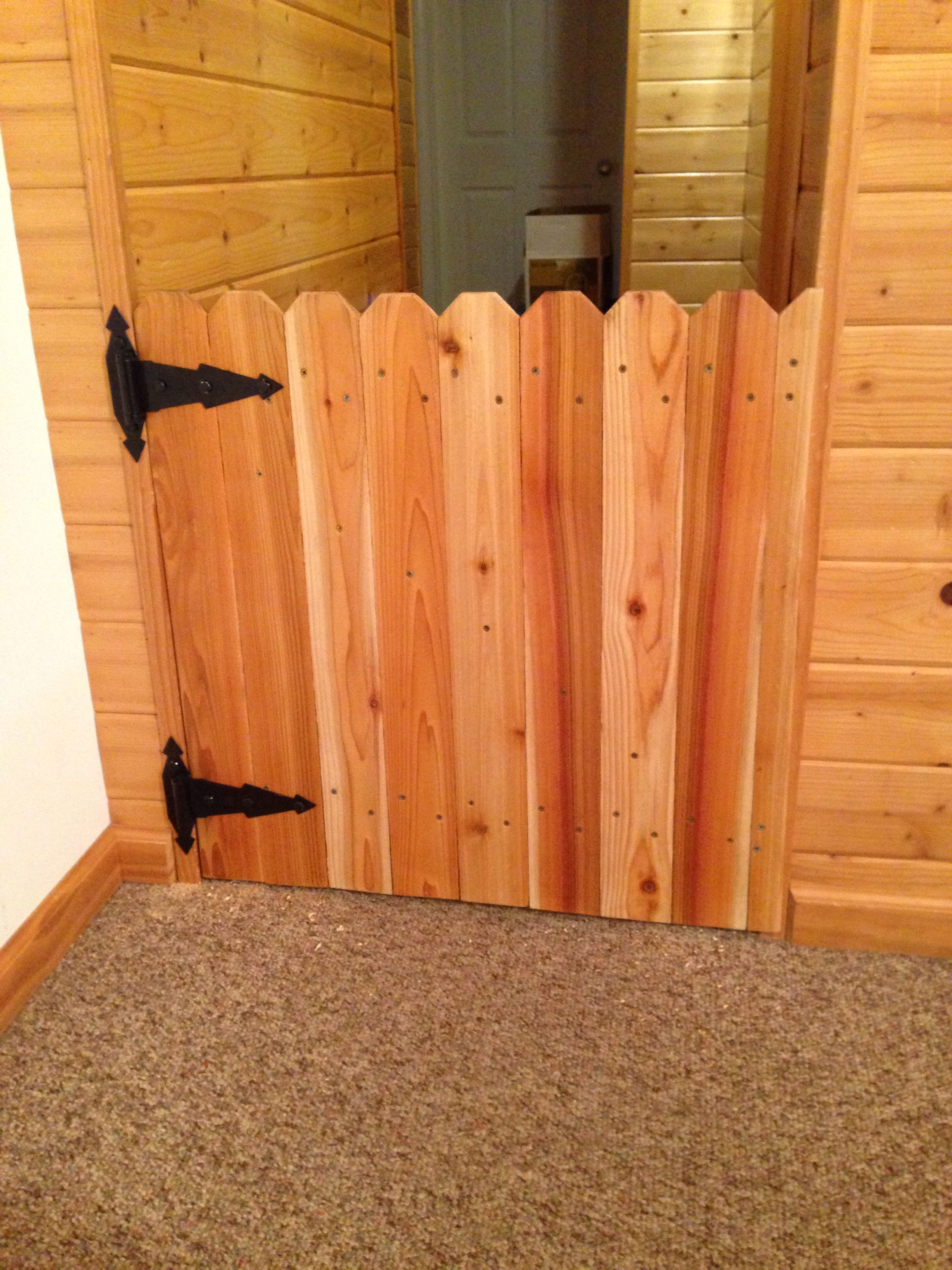 A Baby Gate Designed To Look Like A Garden Gate 3 5 X 6 Cedar
