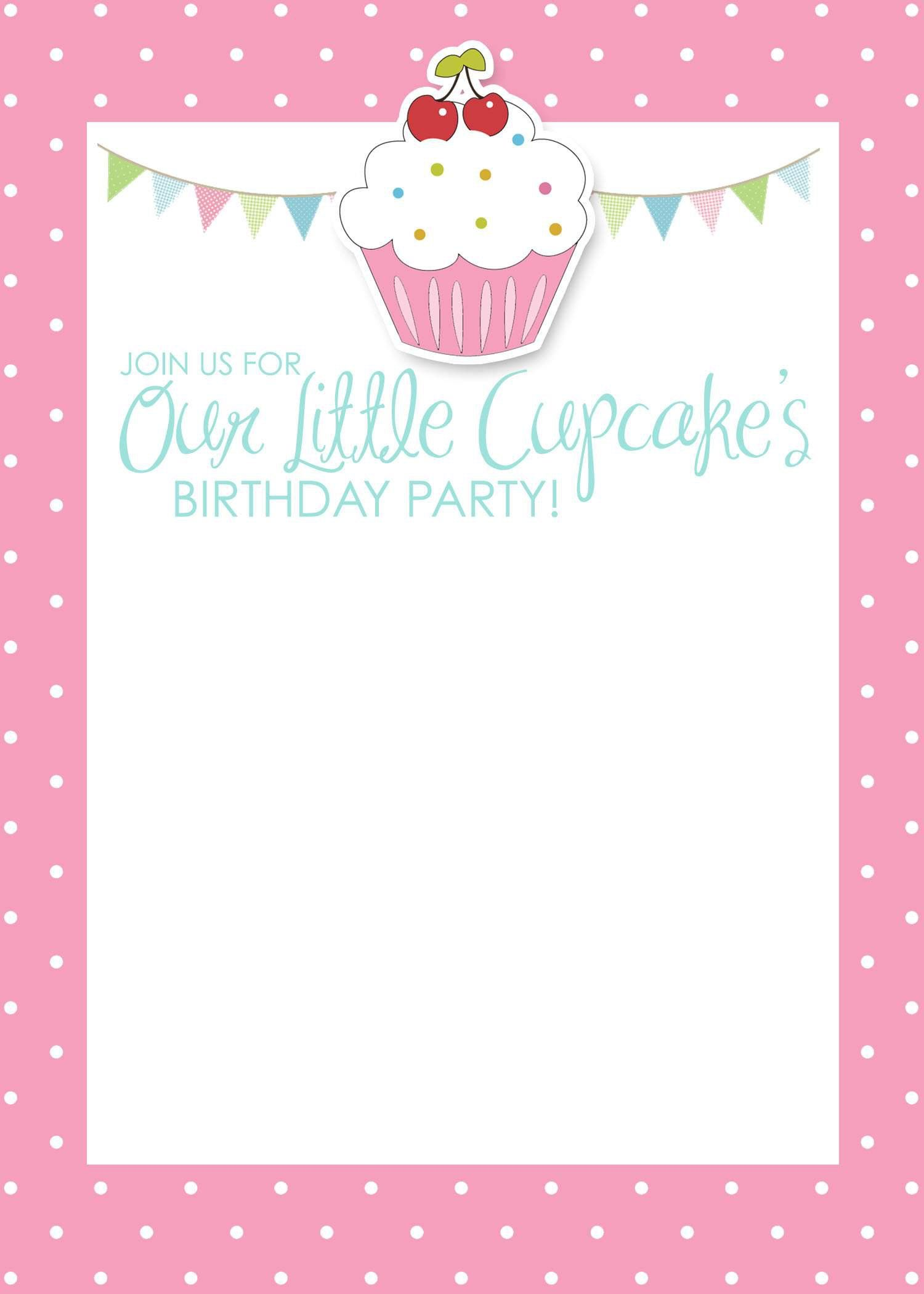 Invitation Cards For Birthday Party Template