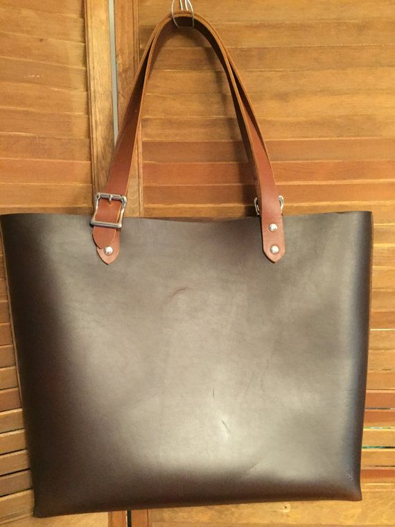 Horween leather bag Large Leather tote by YourChoiceLeather 157eb619e3f82