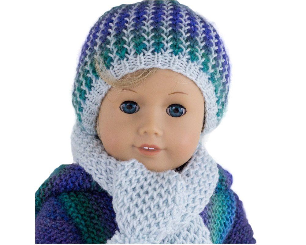 Knitting Pattern fits American Girl Dolls Winter Hat by LelleModa