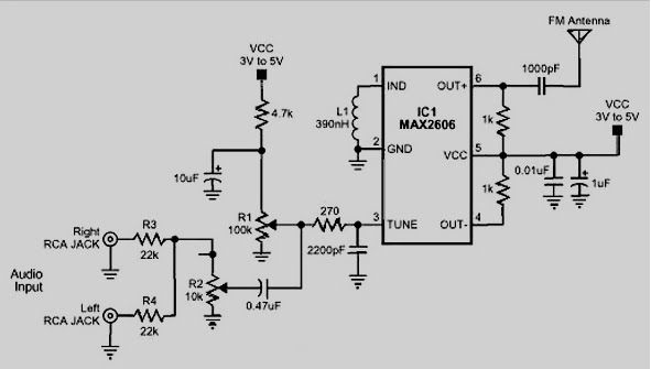 Circuit Schematic Diagram Of Fm Radio Receiver For Battery Supply
