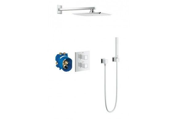 GROHE Grohtherm Cube Perfect shower thermostatische inbouw+afbouw set, chroom - 34506000