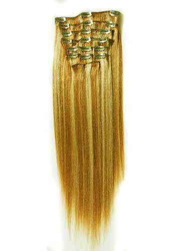 Colormix 7pcs Mermaid Ombre Makeup Brush Set: 20inch Long Straight #27/613 Mix Gold/blonde 100% Human