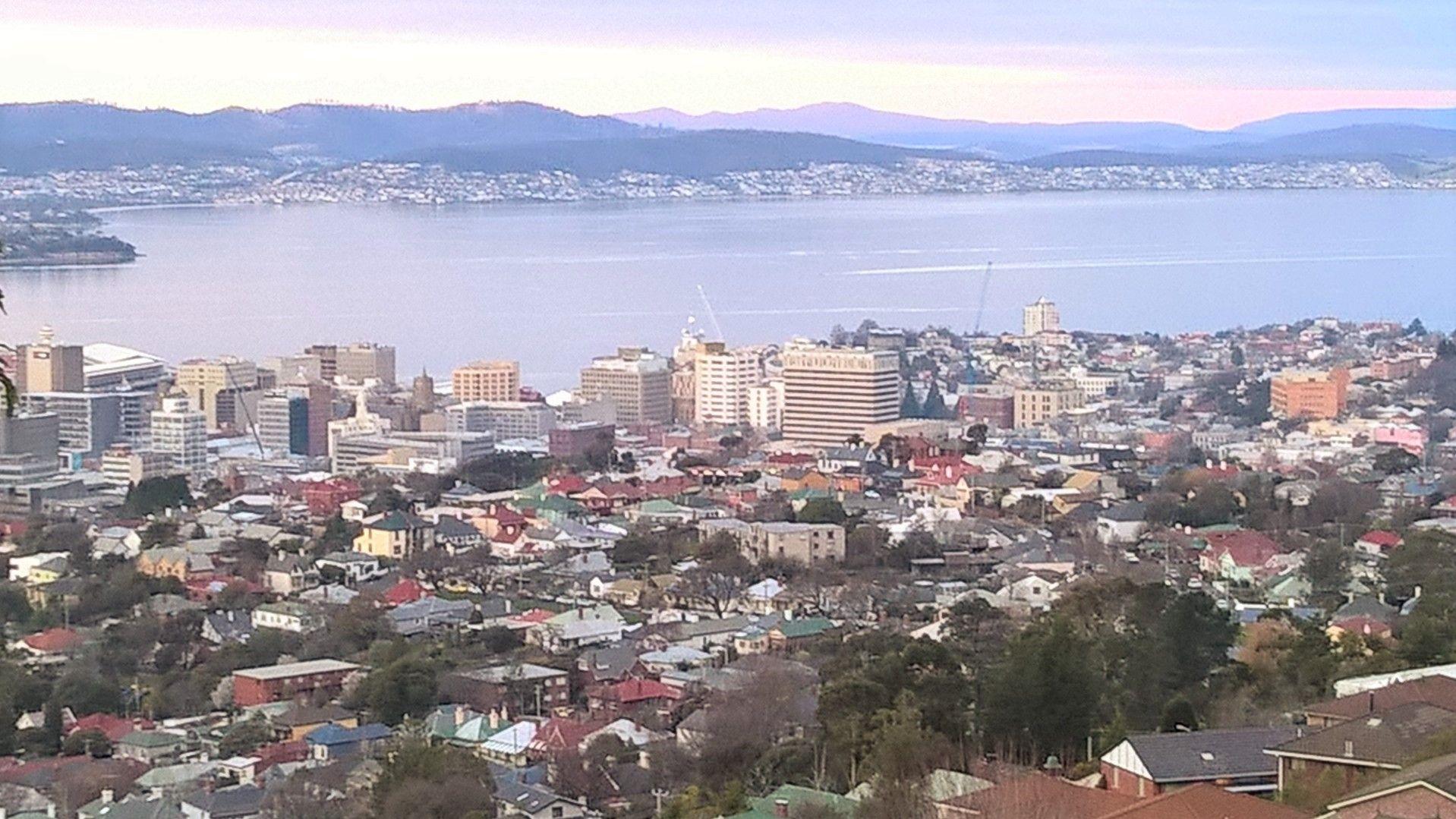 Hobart City looking from West Hobart in Tasmania
