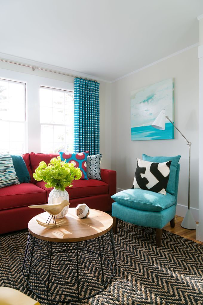 House Of Turquoise Red Couch Living Room Living Room Turquoise Living Room Red #turquoise #living #room #furniture
