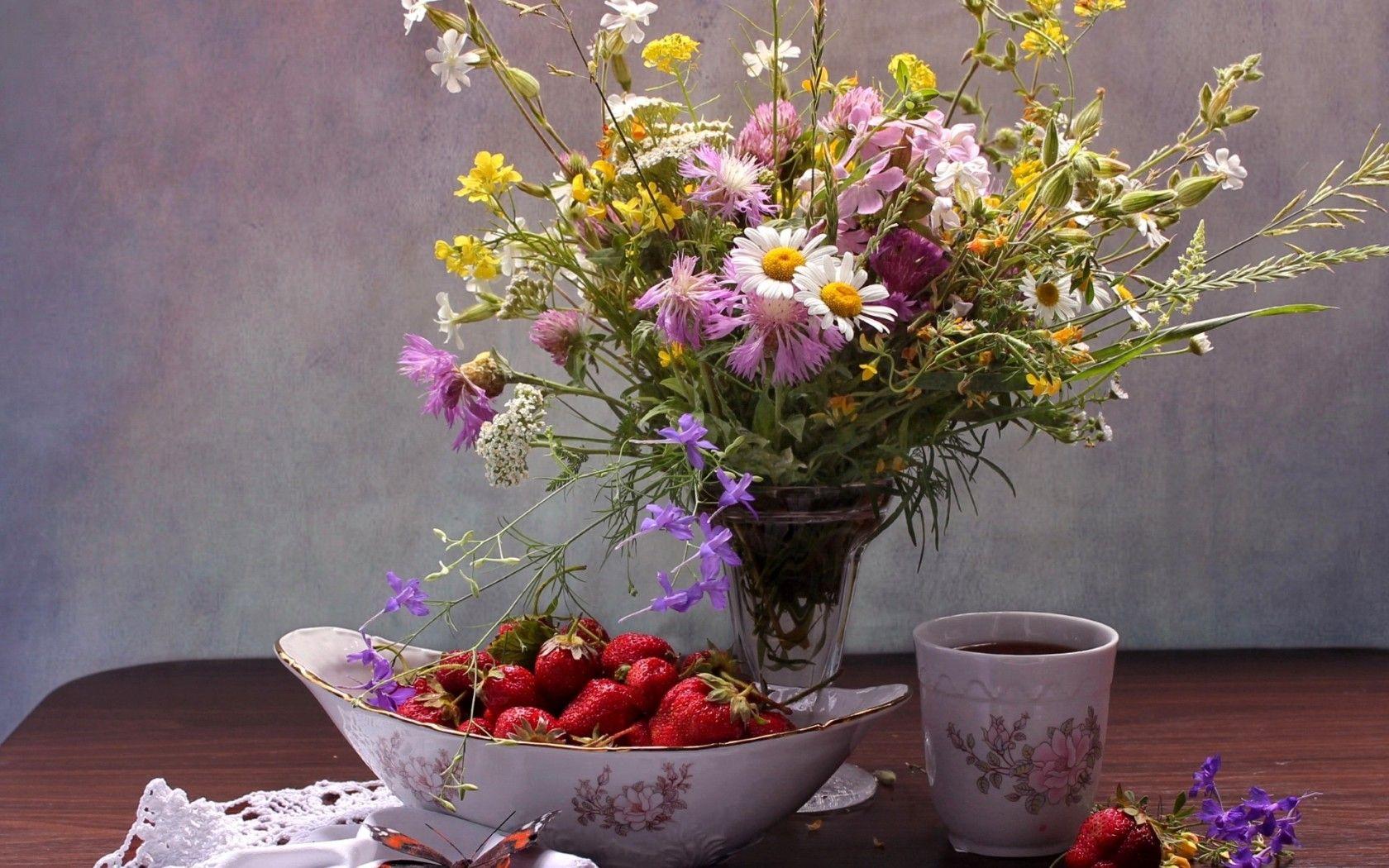 цветы лета в вазах картинки школе углубленным изучением