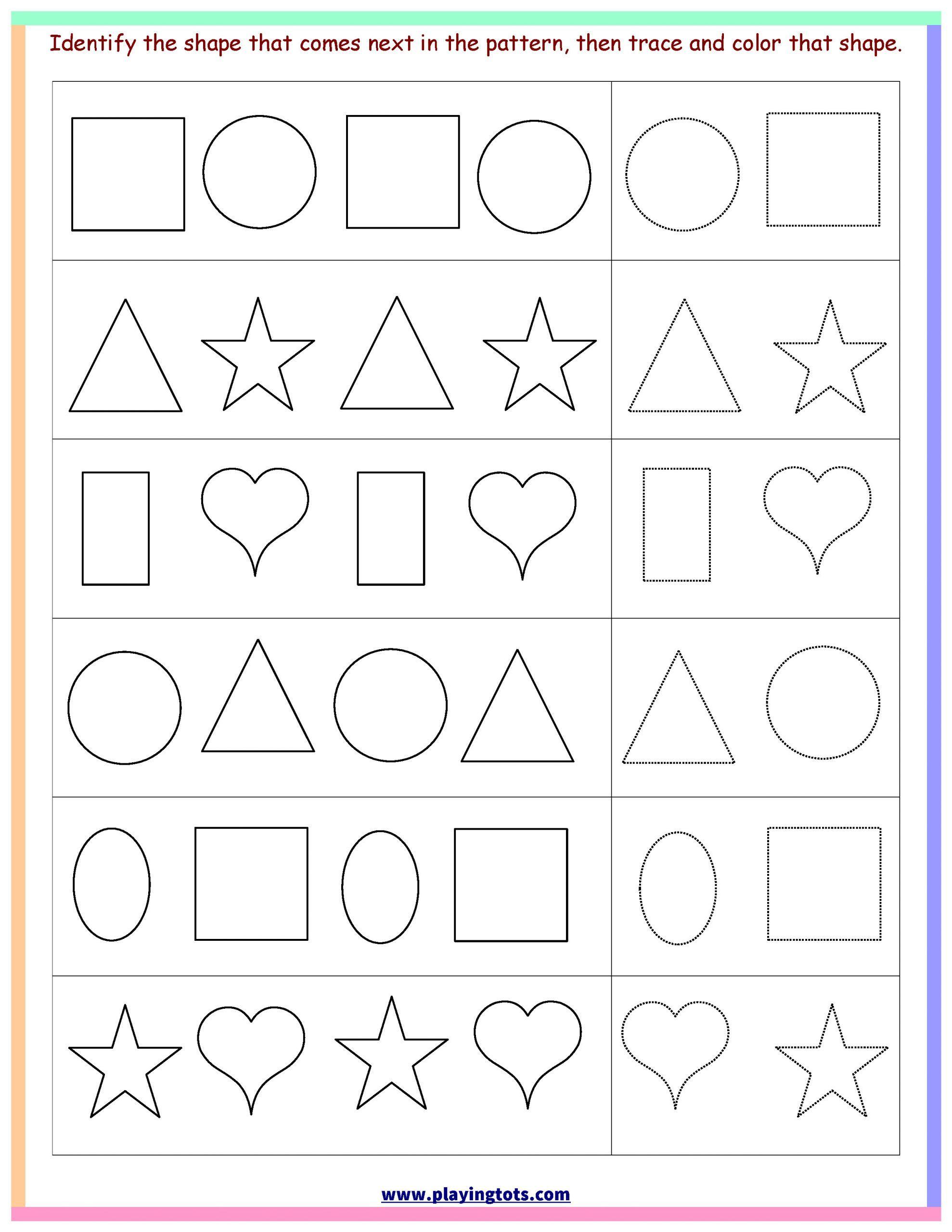 3 Printable Shape Matching Worksheets Worksheet Shapes