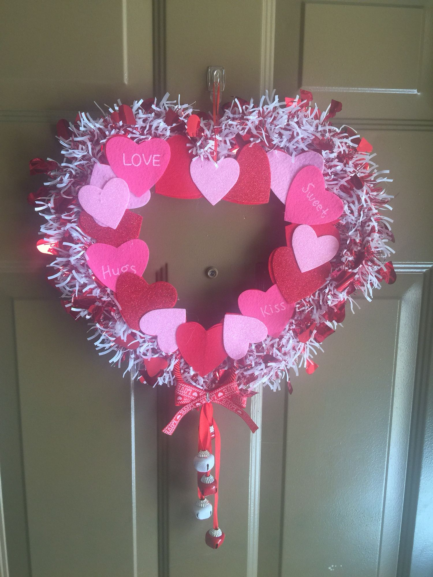 Dollar Tree Valentines Door Decoration All The Items Used For This