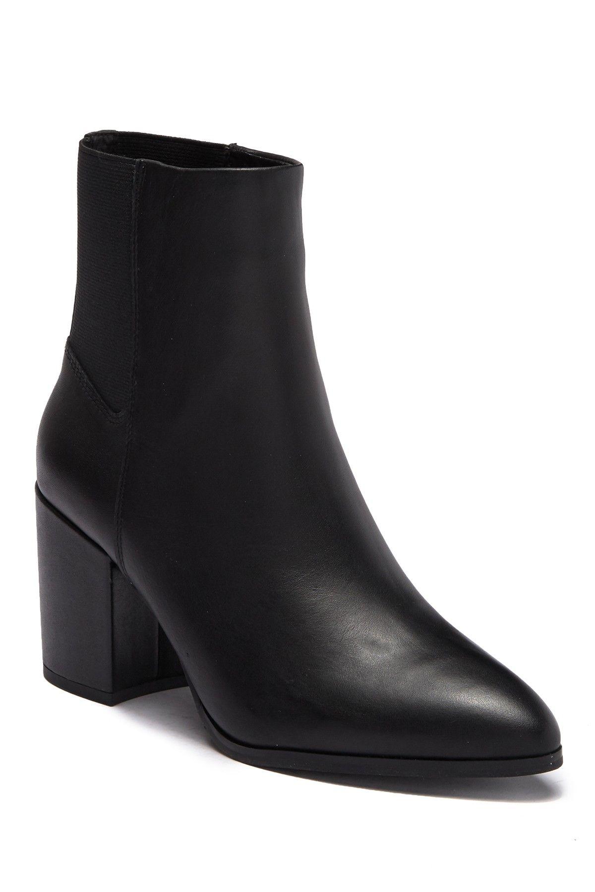 4ee12ad3d Steve Madden | Jeez Leather Block Heel Boot | Style Inspo | Block ...