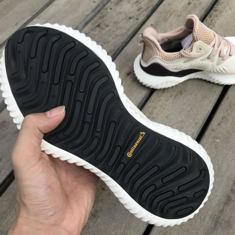 46a777d7e00af Adidas Alphabounce Womens Shoes Beyond Ecru Tint Ash Pearl DB0206 In-Hand  Sole - AnpKick