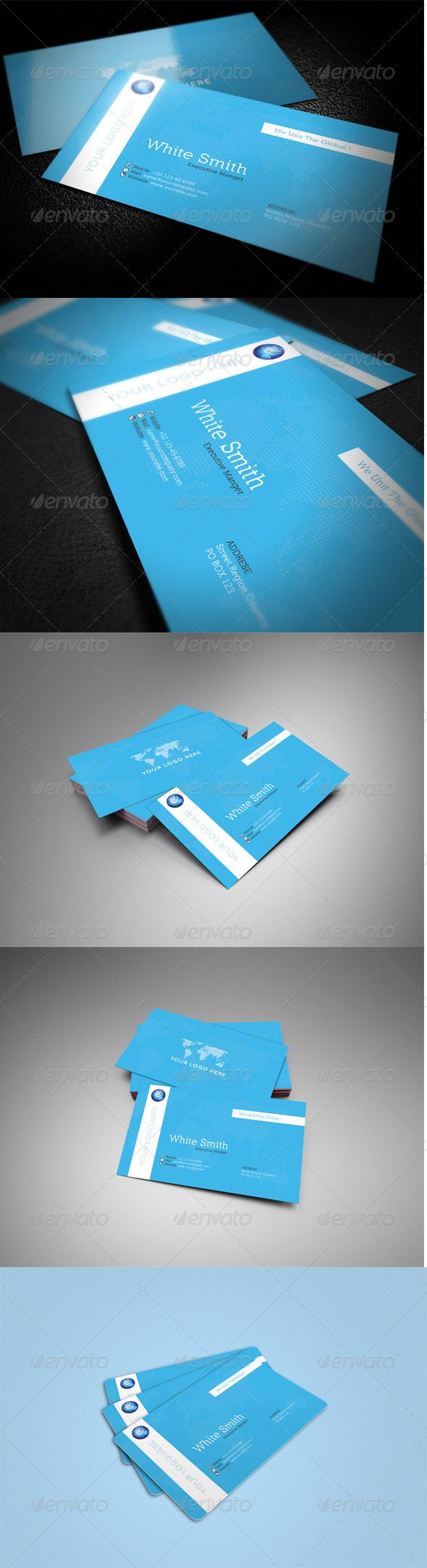 Global Business Card | Business cards, Business card psd and Business