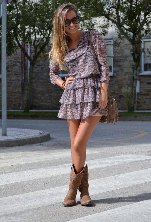 Vestidos cortos para botas vaqueras
